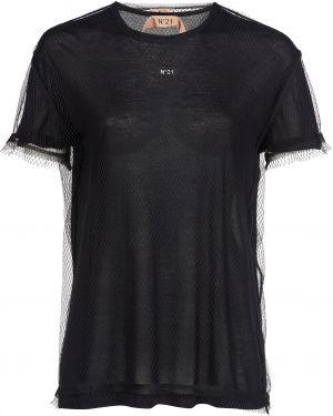 Футбольная черная футболка N°21