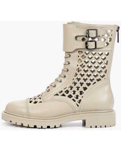 Серые кожаные ботинки Graciana