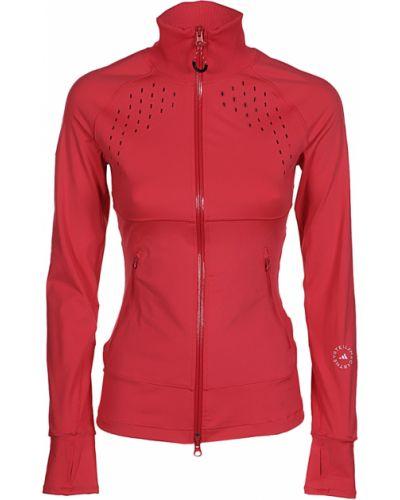 Czerwona koszulka Adidas By Stella Mccartney