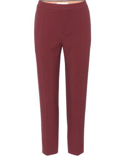 Brązowy spodni klasyczne spodnie z wiskozy Chloã©
