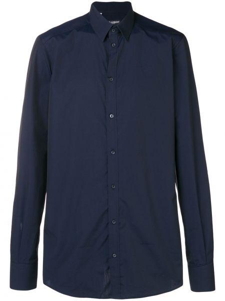 Koszula z długim rękawem klasyczna niebieski Dolce And Gabbana
