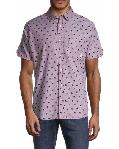 Хлопковая рубашка с коротким рукавом с воротником классическая Ben Sherman