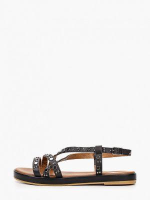 Черные кожаные сандалии Emanuele Gelmetti