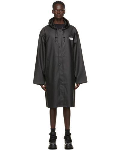 Ze sznurkiem do ściągania płaszcz przeciwdeszczowy od płaszcza przeciwdeszczowego z kieszeniami z długimi rękawami Vetements