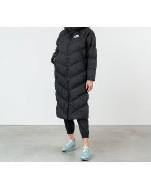 Длинное пальто белое спортивное Nike