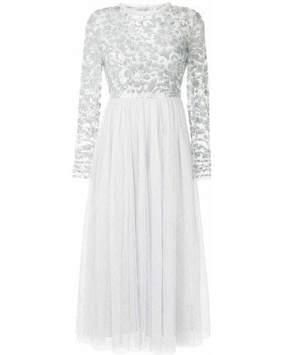 Серое платье с круглым вырезом Needle & Thread
