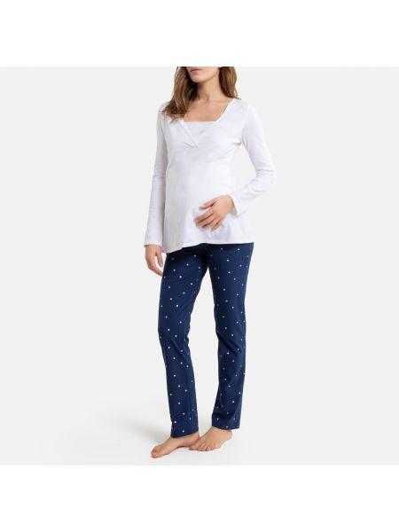 Пижама с брюками в горошек пижамный La Redoute