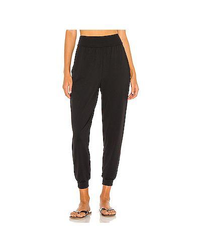 Нейлоновые черные брюки с карманами Susana Monaco