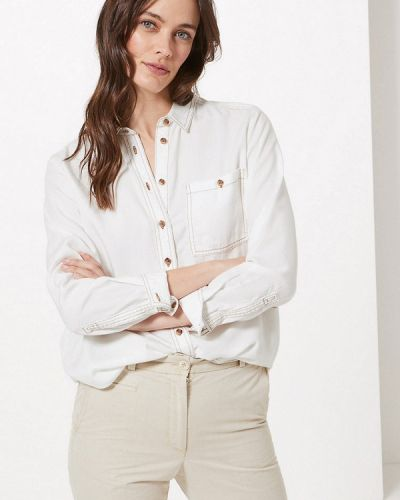 Джинсовая рубашка белая Marks & Spencer
