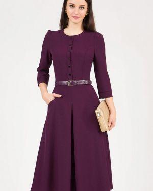Повседневное платье осеннее фиолетовый Grey Cat