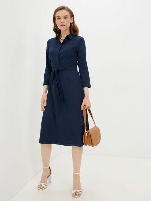 Синее платье рубашка Rivadu