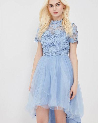 Голубое коктейльное платье Chi Chi London