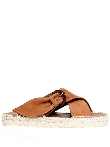 Brązowe sandały skorzane klamry Tabitha Simmons
