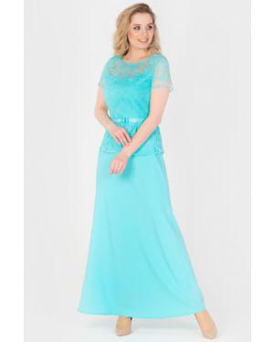 Вечернее платье летнее с баской Filigrana
