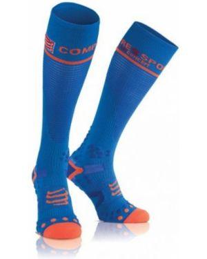 Niebieskie sport skarpety Compressport