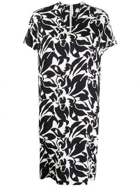 Платье мини миди с цветочным принтом Escada
