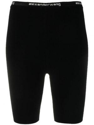 Czarne szorty z wiskozy Alexander Wang
