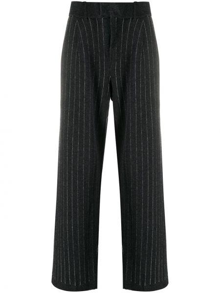 Кашемировые вязаные серые брюки Barrie