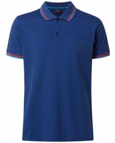 Niebieska koszulka bawełniana Paul & Shark