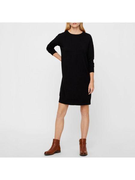 Платье миди со складками из вискозы Vero Moda