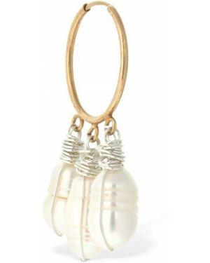Białe złote kolczyki perły Wald Berlin