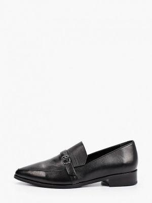 Черные кожаные лоферы Hestrend