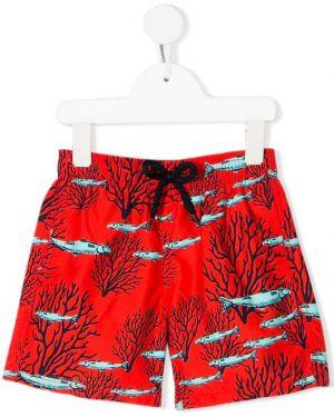 Красные плавки с карманами Vilebrequin Kids