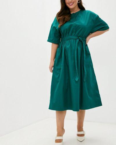 Зеленое прямое платье Incity