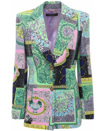 Куртка из вискозы пэчворк Versace