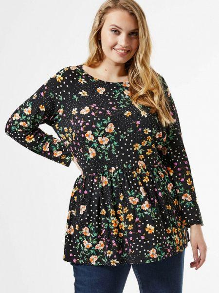 Блузка с длинным рукавом черная весенний Dorothy Perkins Curve