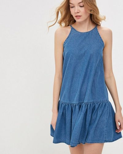 Джинсовое платье - синее Modis