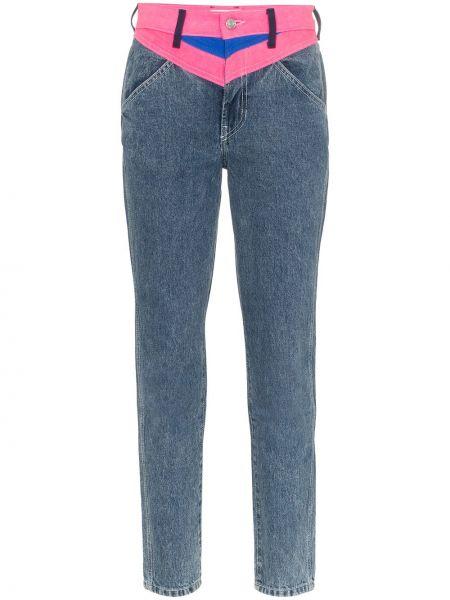 Niebieskie jeansy bawełniane z paskiem Jordache