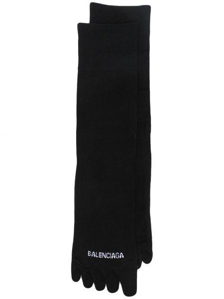 Trykotowy czarny skarpety Balenciaga