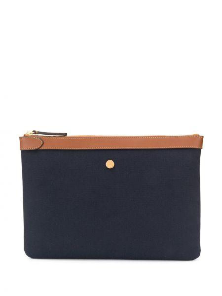 Синяя парусиновая кожаная сумка Mismo