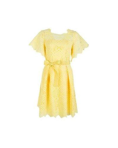Хлопковое желтое платье Vuall