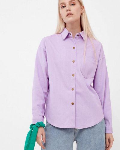Рубашка с длинным рукавом - фиолетовая Dorogobogato