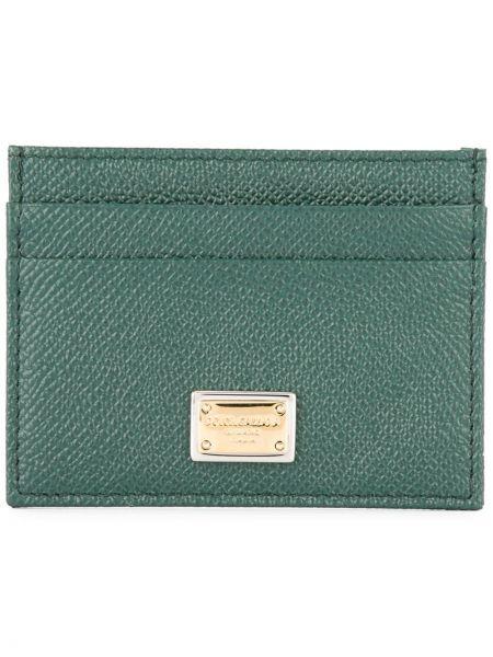 Кожаный кошелек зеленый прямоугольный Dolce & Gabbana