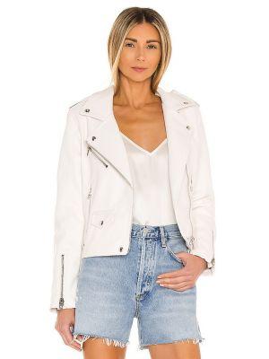 Кожаная куртка на молнии - белая [blanknyc]