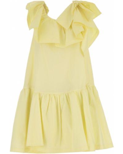 Żółta sukienka wieczorowa bez rękawów bawełniana 1. Phillip Lim