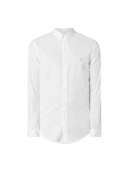 Bawełna puchaty biały koszula z mankietami Polo Ralph Lauren