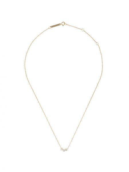 Золотистое желтое ожерелье с бриллиантом круглое Zoë Chicco