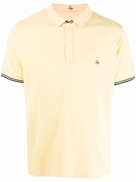 Желтая рубашка с вышивкой Fay