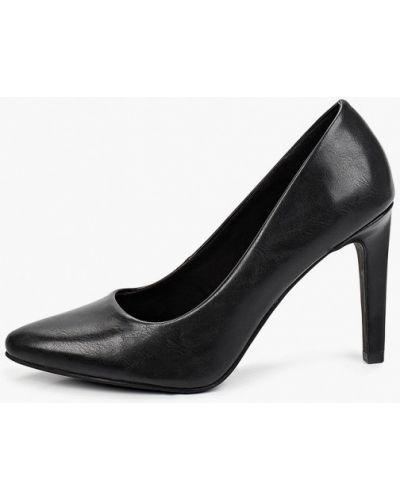 Черные кожаные туфли-лодочки Marco Tozzi