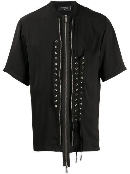Koszula krótkie z krótkim rękawem sport czarna Dsquared2