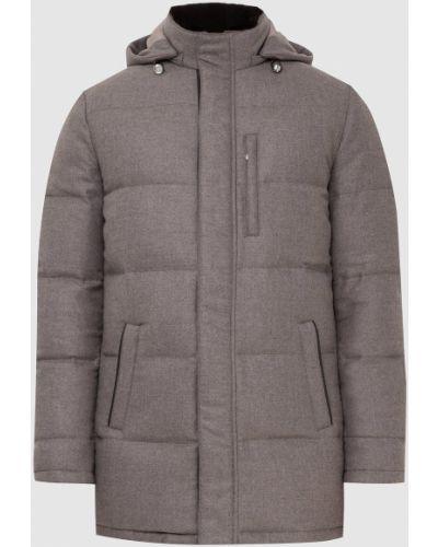 Пуховая куртка - серая Enrico Mandelli