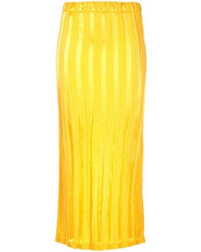 Юбка миди в полоску - желтая Zero + Maria Cornejo