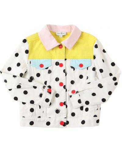 Белая куртка на кнопках Little Marc Jacobs