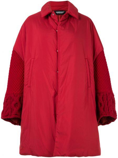 Шерстяное длинное пальто оверсайз с капюшоном Undercover