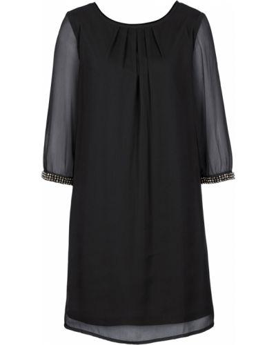 Свободное шифоновое черное платье Bonprix