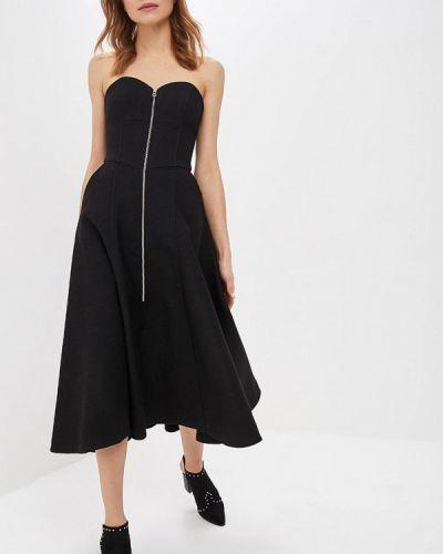 Вечернее платье осеннее черное форма